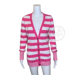 Victoria's Secret PINK Striped Cardigan Sweater